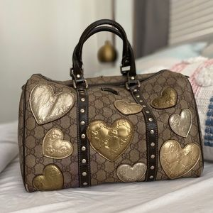 GUCCI limited edition metallic hearts speedy